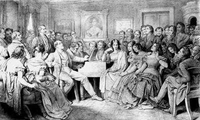 Мориц фон Швинд, написавший картину «Вечер Шуберта у Йозефа фон Шпауна», поместил там портрет Каролины на стене, справа от сидящего за роялем Шуберта в окружении друзей композитора