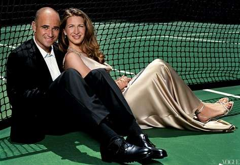 andre agassi and steffi graf Штеффи Граф «Теннисная машина»