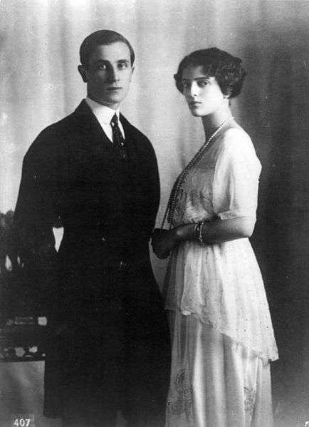 Феликс Юсупов со своей невестой Ириной Александровной, 1913