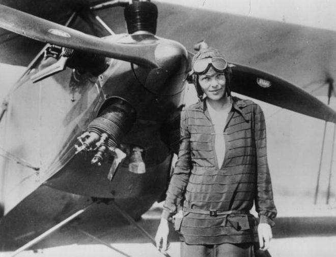 Амелия Эрхарт — первая женщина-пилот, перелетевшая Атлантический океан