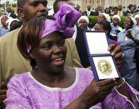 Вангари Маатаи — эколог, первая женщина-африканка, получившая Нобелевскую премию мира